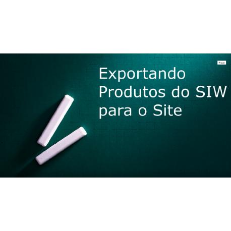 Exportando produtos do site para o SIW (Sistema Integrado para Windows)
