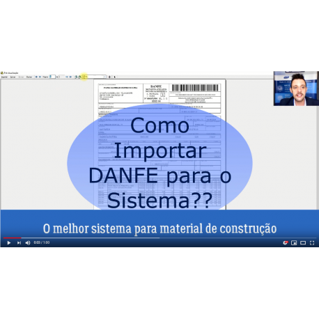 O Melhor Sistema para Material de Construção - Importar Danfe para sistema
